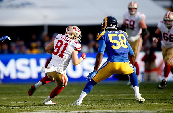 Trent Taylor #81 of the San Francisco 49ers
