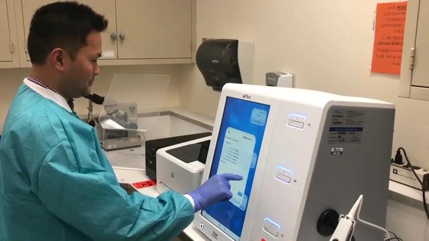 Children's National Hospital coronavirus testing machine