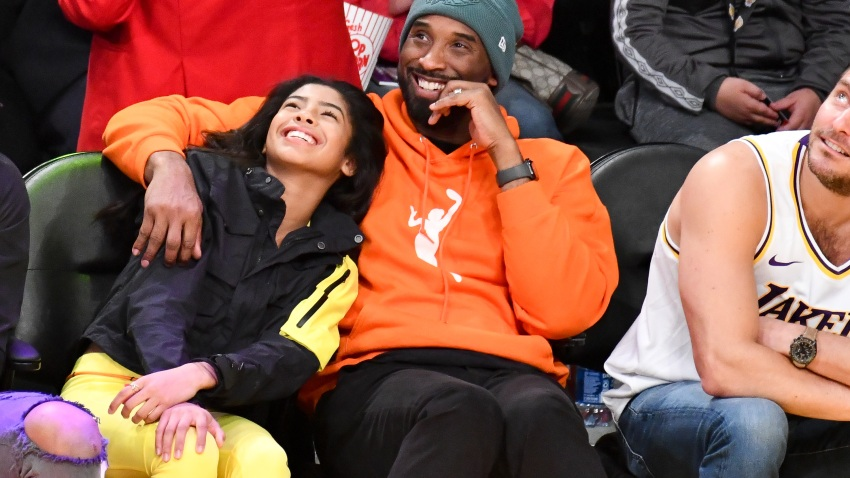 Kobe Bryant and daughter Gianna Bryant attend a basketball game between the Los Angeles Lakers and the Dallas Mavericks at Staples Center on Dec. 29, 2019 in Los Angeles, California.