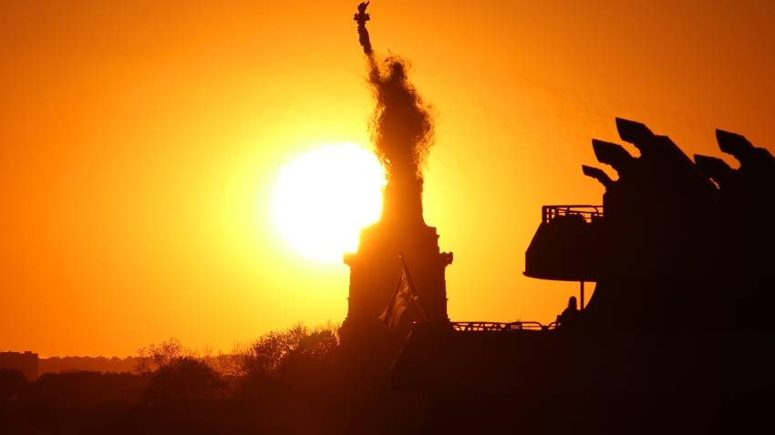 Statue of Liberty in sun