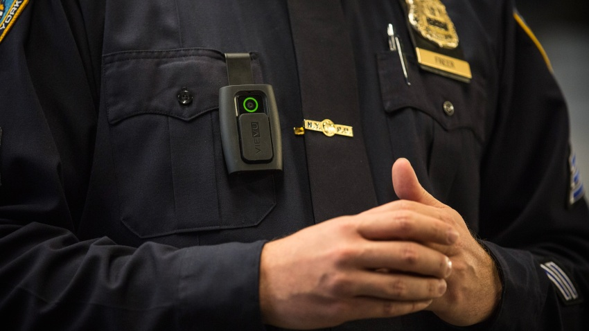 Police Officer wearing body camera