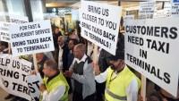 Viajen con tiempo: Taxistas planean demostración en LAX