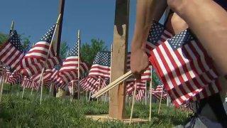 Phily Vietnam Veterans Memorial American Flags Generic