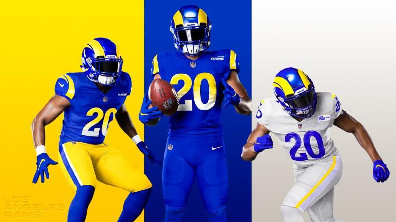 Rams de Los Ángeles presentan sus vibrantes nuevos uniformes para 2020