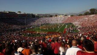 Rose Bowl stadium filled people