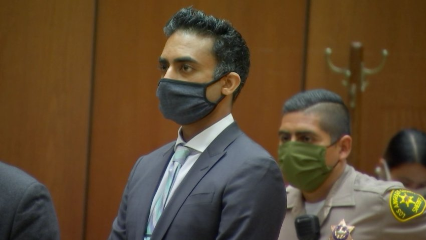 Dr. Anshul M. Gandhi appears in a Los Angeles courtroom.