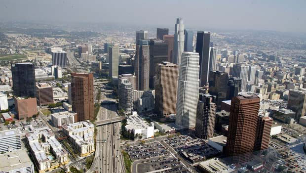 [lagenerics] downtown los angeles skyline aerial
