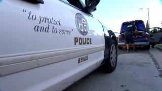 LAPD police car