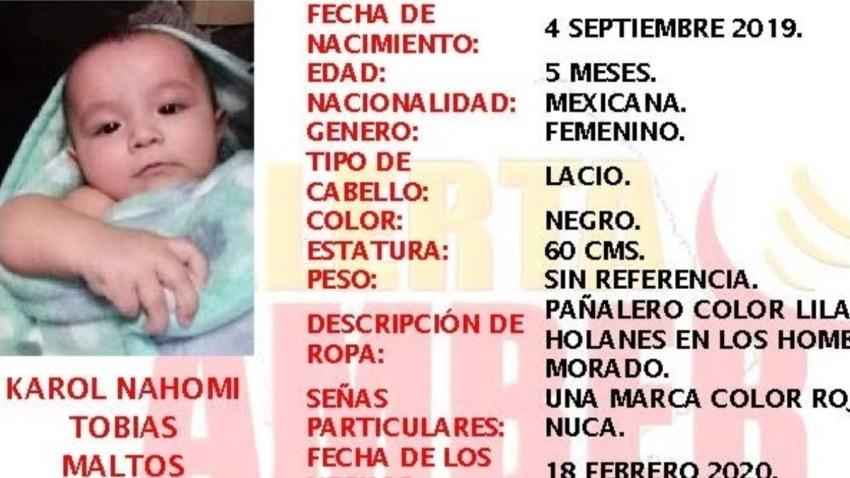 Alerta por bebé robada
