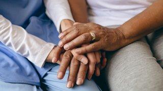 senior citizen hands