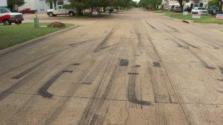street race skid marks