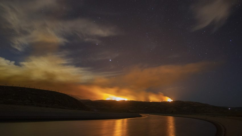 A view of the Lake Hughes fire.