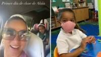 Adamari muestra cómo fue el primer día de clases de Alaïa en plena pandemia