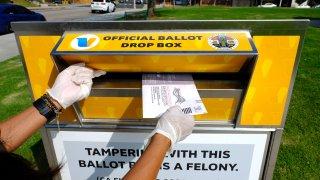 A ballot drop box.