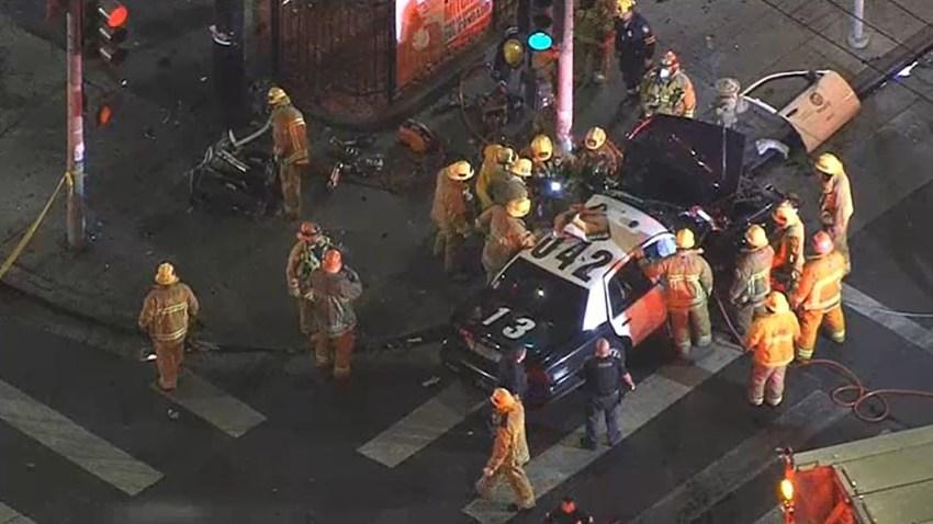 Un Accidente automovilístico ocurrió en la cuadra 1000 de East Vernon Avenue, cerca de Central Avenue en el sur de Los Ángeles.