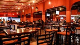 Restaurante casi vacío por la pandemia