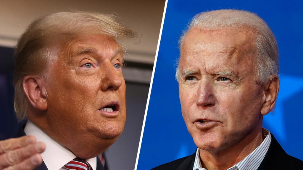 President Donald Trump (left) and Democratic presidential nominee Joe Biden (right).