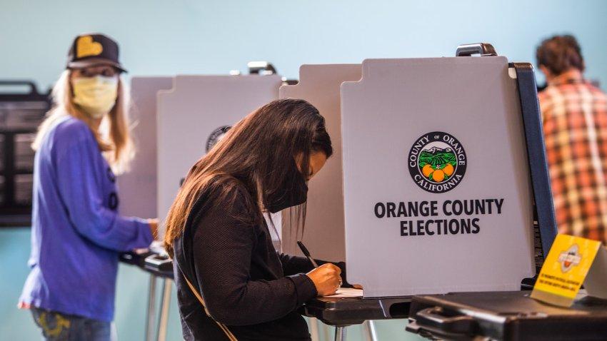 Voters voting in Orange County.