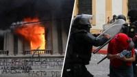 En Guatemala: manifestantes prenden en fuego al Congreso durante protestas