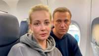 Detienen a la esposa del líder opositor ruso, Alexei Navalny