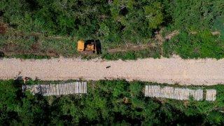 Construcción del Tren Maya en Yucatán