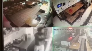 Video showa a robbery at Roscoe's in Pasadena.