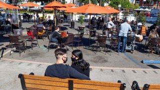 Outdoor dining in Orange County, CA