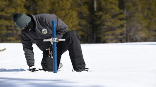 The third snow survey of the season is conducted.