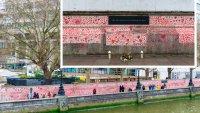Muro de corazones: tributo de 2,300 pies de largo a los fallecidos por COVID-19 en Reino Unido