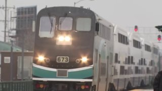 A Metrolink train is pictured in this undated file photo.