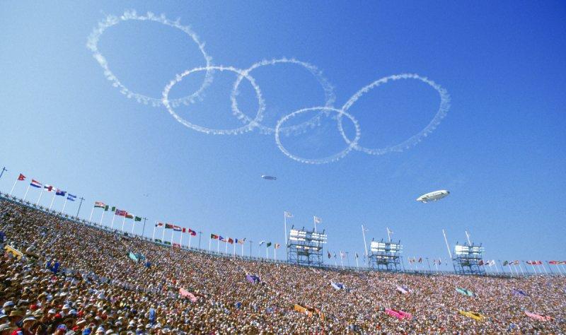 Fotos: Imágenes de la ceremonia de apertura de los Juegos Olímpicos de Los Ángeles 1984