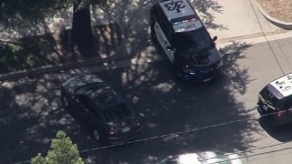 A driver was arrested in La Verne after a long-distance chase.