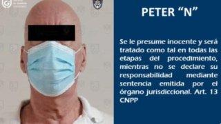 Imagen de un ciudadano de EEUU arrestado en México por feminicidio