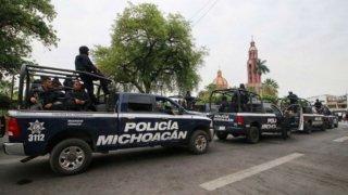 Vehículos de la Policía de Michoacán