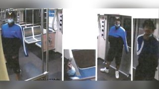 Los Angeles police released security camera images of the man wanted in a fatal shooting on a Metro train in Hollywood.