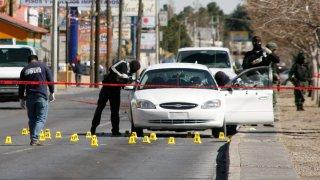 Escena de crimen en Ciudad Juárez