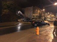Fuerte lluvia convierte calles de Maryland en ríos