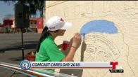 Rennovación de escuela en Comcast Cares Day