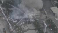 Un incendio destruyó un local comercial abandonado en El Monte