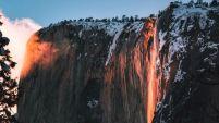 El fenómeno invernal está realizando un espectáculo en el Parque Nacional Yosemite.