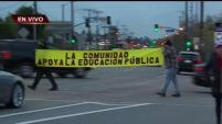 Los maestros de Los Ángeles continúan con la huelga, que ya lleva dos días.
