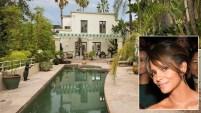 La casa está ubicada en el área exclusivo de Hollywood Hills y tiene de vista el Océano Pacífico.