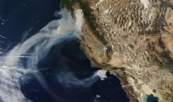 imágenes de incendios forestales desde el espacio