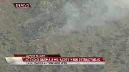 Devastador incendio en Lake Isabella