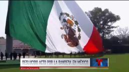 Bandera de México al revés