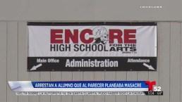 Video: Arrestan a estudiante por planear una masacre