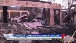 Video: Combate a incendio permite el regreso de evacuados