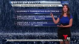 Video: Precaución ante azote de lluvia en el sur de California