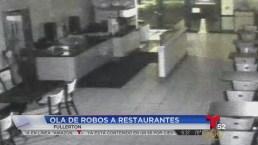 Video: Esperan que video lleve al arresto de ladrones de restaurantes