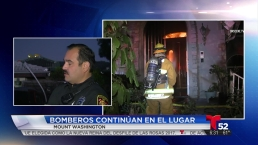 Voraz incendio destruye residencia